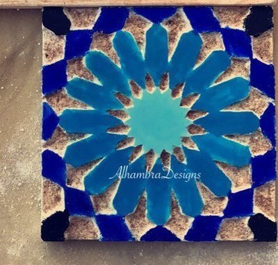 Geometric square tile