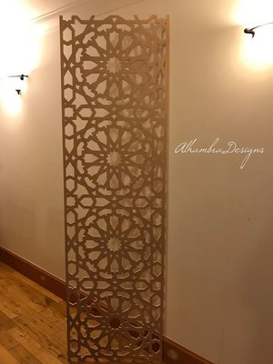 Large Geometric Wooden panel
