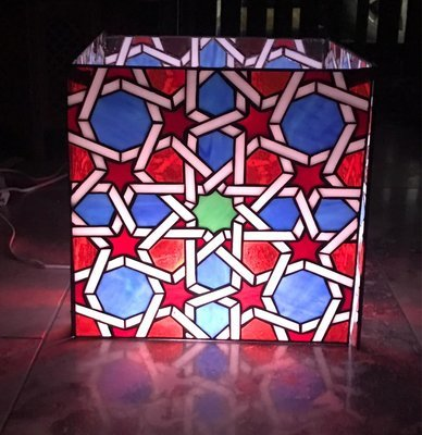 Geometric Stained Glass LAMP 'The Golden Ratio'