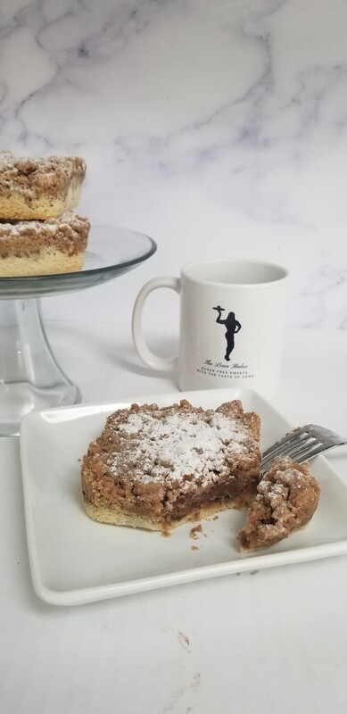 No Sugar Added NY Apple Crumb Cake Baked To Order  2 Serving Size 4