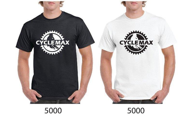 T shirt Cycle Max 100% coton blanc ou noir