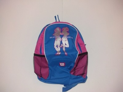 Wilson Venus & Serena Williams Sisters Youth Tennis Backpack Blue & Pink Bag