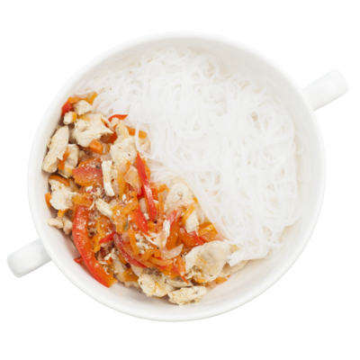 Курица по-тайски с фунчезой