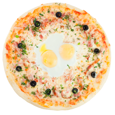 Пицца «Карбонара с яйцом»