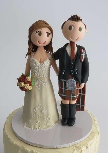 Scottish  Couple -on round base board