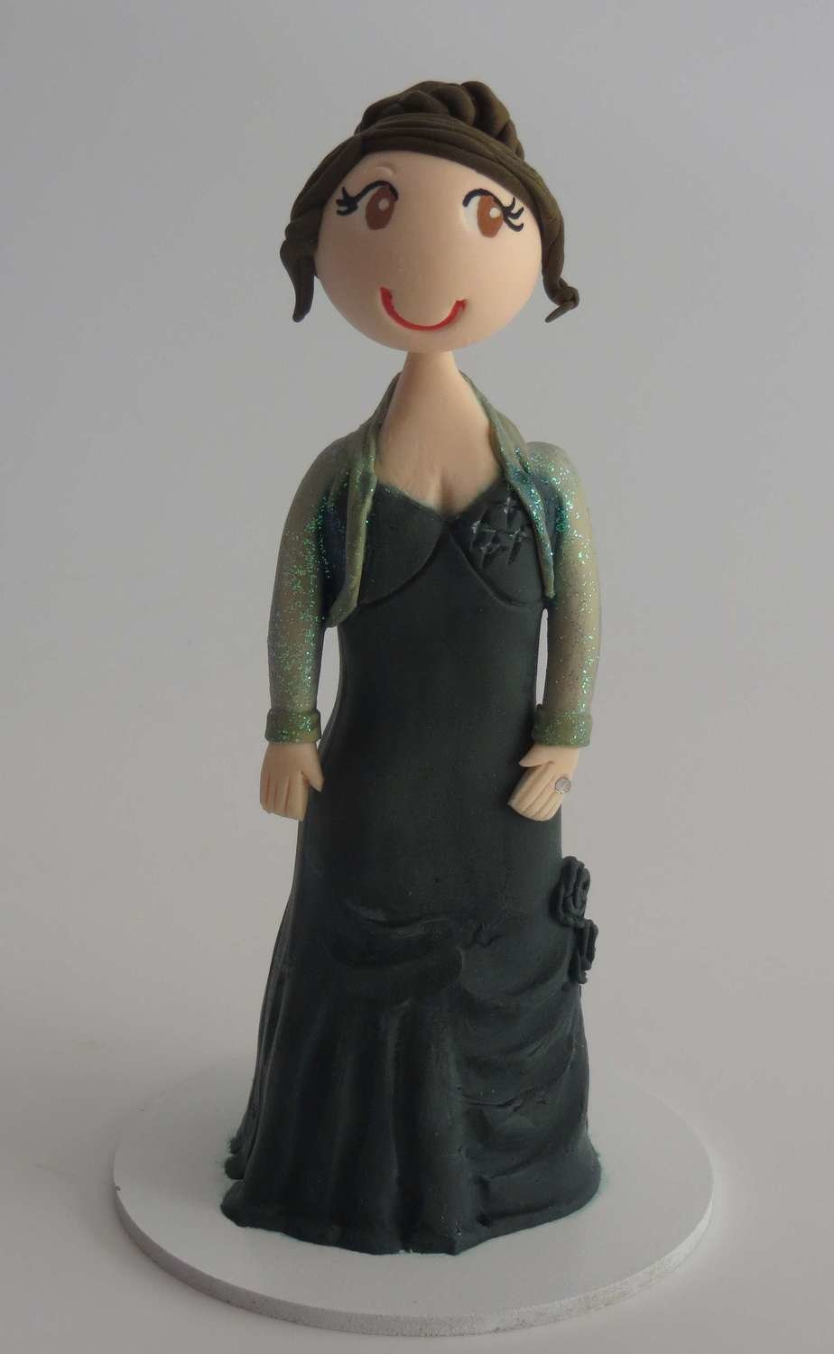 Special Occasion Toppers Single Female Figurine on base board