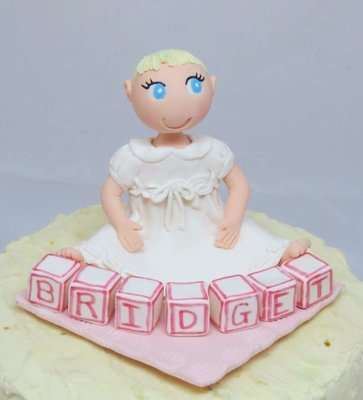 Special Occasion Baby with name blocks Figurine