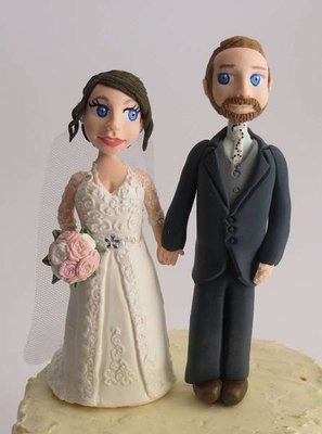 Standing Bride & Groom with