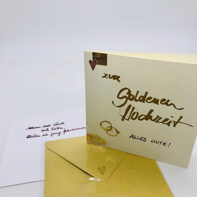 "Billett ""handmade"" Goldene Hochzeit"