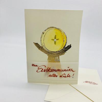 """Billett """"handmade"""" Erstkommunion -zur Erstkommunion alles Liebe!"""