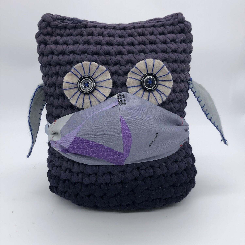 MNS(Mund-Nasen-Schutz)-Maske lila mit Strass