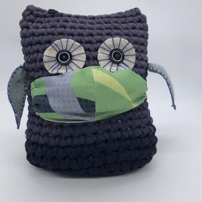 MNS (Mund-Nasen-Schutz Maske) - grün mit Strass