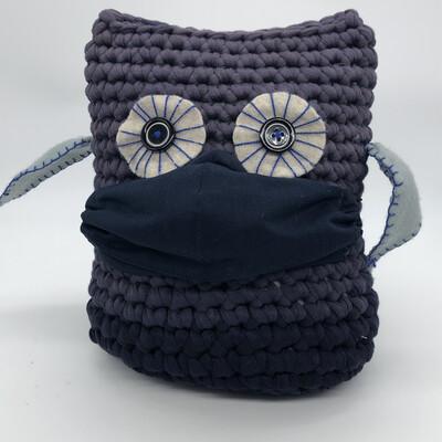 MNS (Mund-Nasen-Schutz Maske) - dunkelblau mit Strassdetail