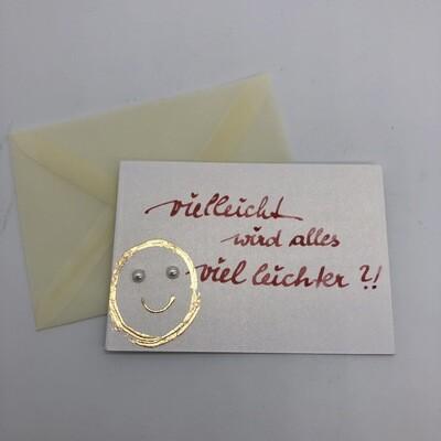 """Billett """"handmade"""" Mini - Smiley"""