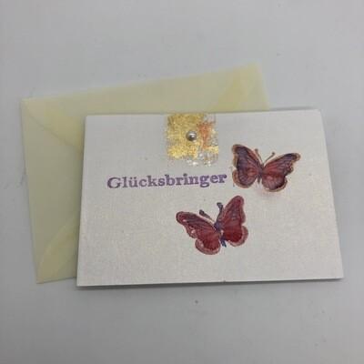 """Billett """"handmade"""" Mini - Schmetterlinge Glücksbringer"""