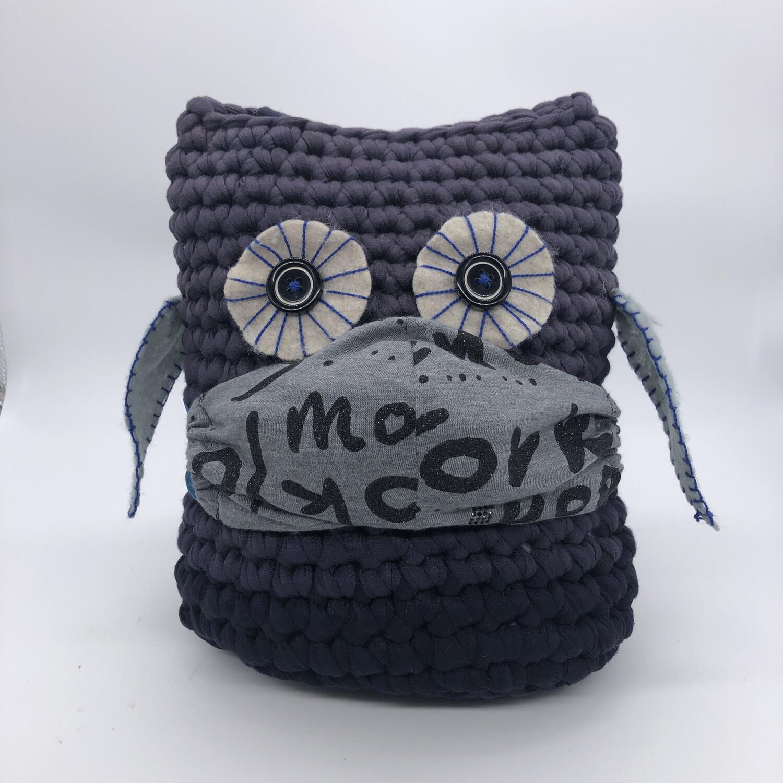 MNS (Mund-Nasen-Schutz Maske) - grau/schwarz