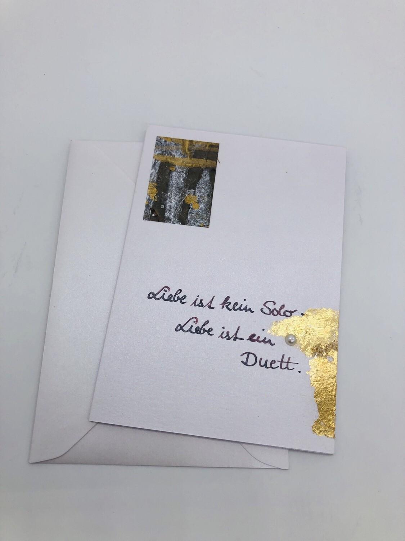 """Billett """"handmade"""" Sondergröße - Spruch Liebe"""