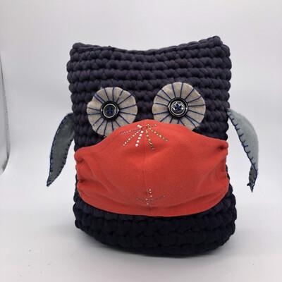 MNS (Mund-Nasen-Schutz Maske) - rot  mit Strass