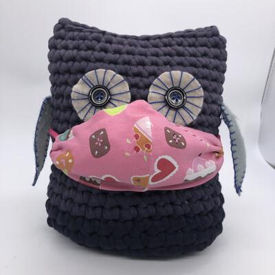 MNS (Mund-Nasen-Schutz Maske) - rosa Sweets mit Glitzer