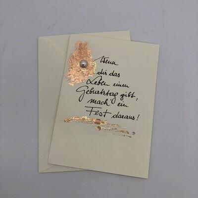 "Billett ""handmade"" Geburtstag"