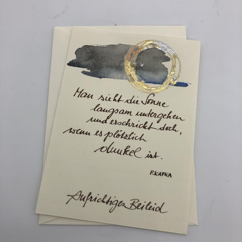 """Billett """"handmade"""" - Trauer - mit Spruch"""