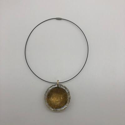 Halskette / reif - kurz mit Anhänger gold/transparent