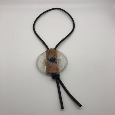 Halskette lang mit großem runden Anhänger