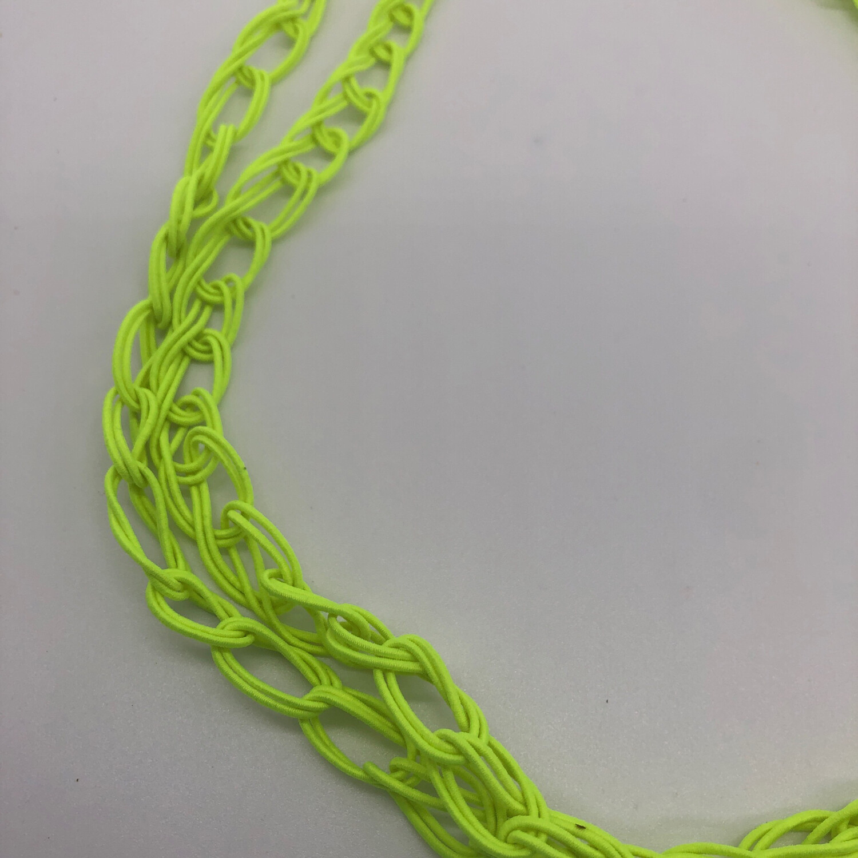 Kette / Armband gestrickt neongelb
