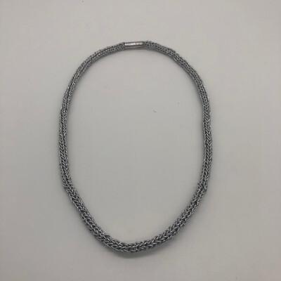 Kette / Armband gestrickt silber