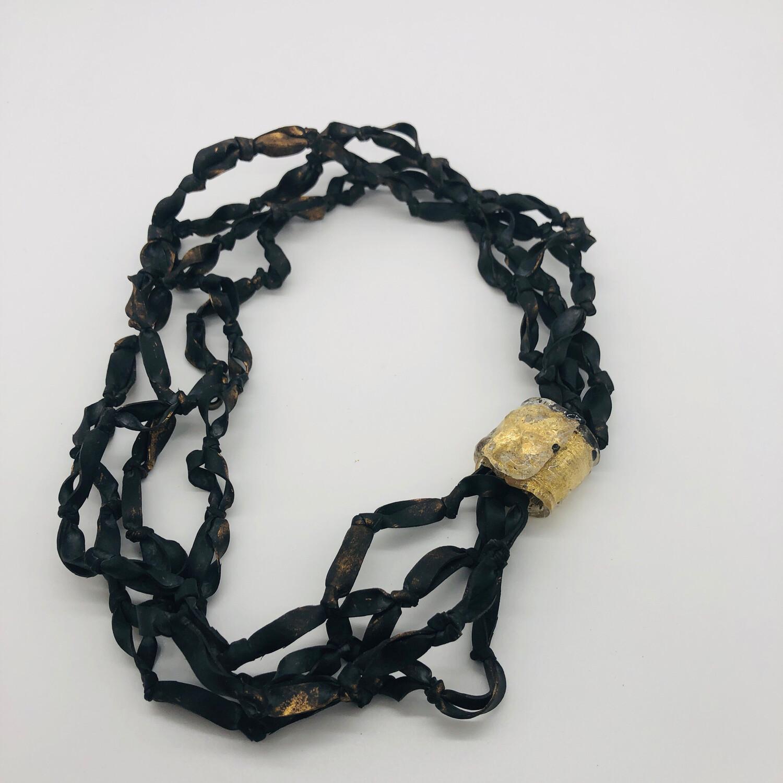 Kette / Armband Kautschuk schwarz