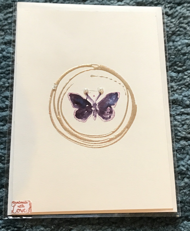"Billett ""handmade"" Schmetterling"