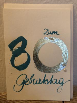 Karte - Zum 80. Geburtstag