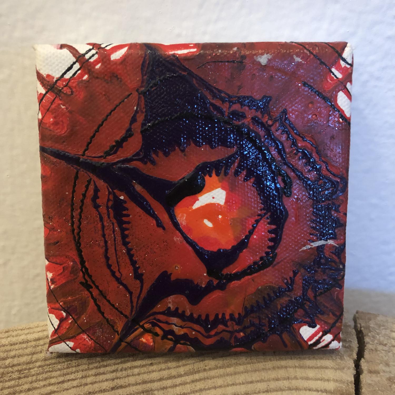 Bild Mini 10x10 cm Rottöne