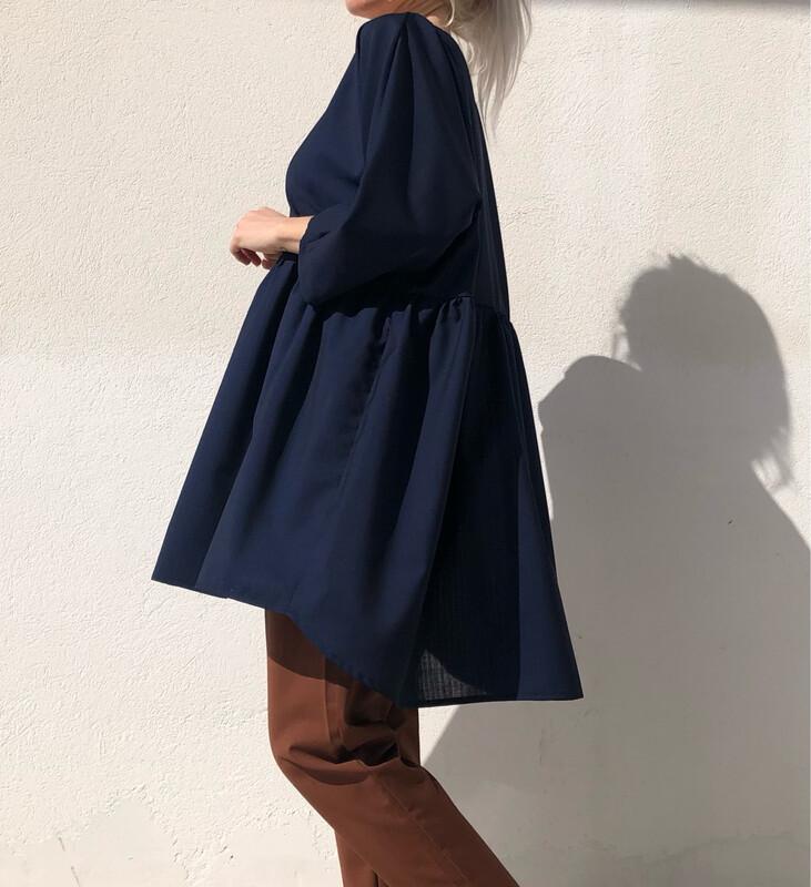 Maxi blusa/ abito blu
