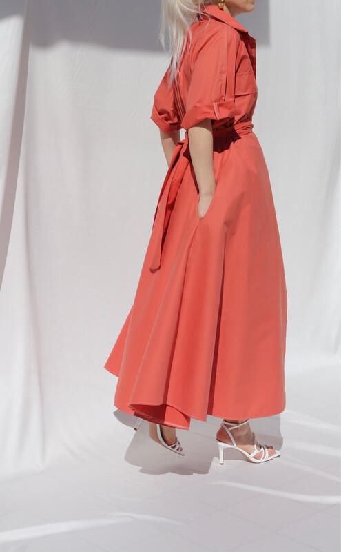 Abito-Camicia Arancio