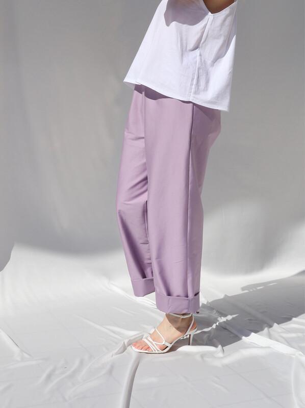 Pantalone morbido - Lilla