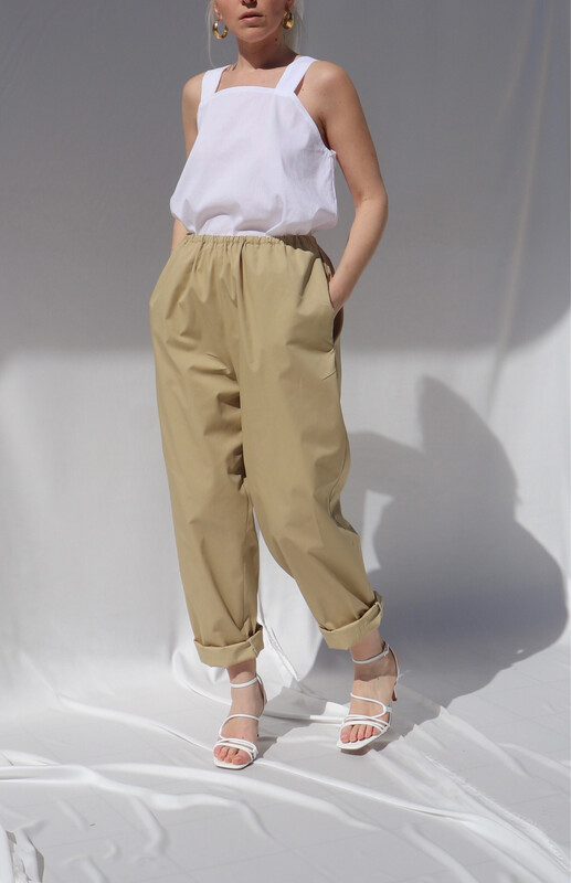 Pantalone morbido - Beige