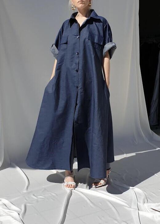 Abito-Camicia Blu denim