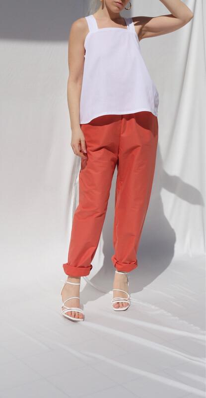Pantalone morbido - Arancio