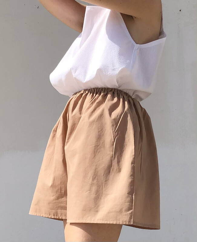 Shorts - Cotone color Nude