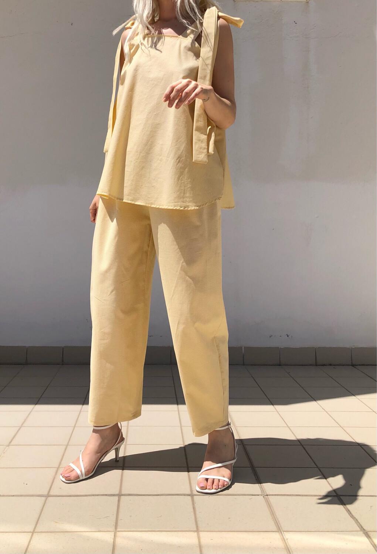 Completo maxi top con lacci + Pantalone morbido