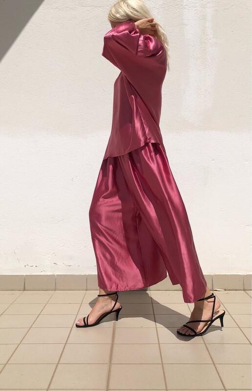 Completo Maxi blusa + Pantalone a palazzo