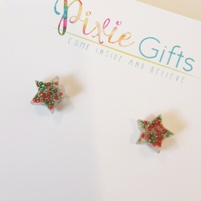 Mini Christmas Star Studs