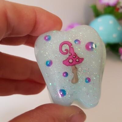 Blue Mushroom Tooth Fairy Box