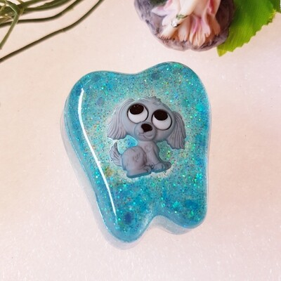 Silver Puppy Tooth Fairy Box