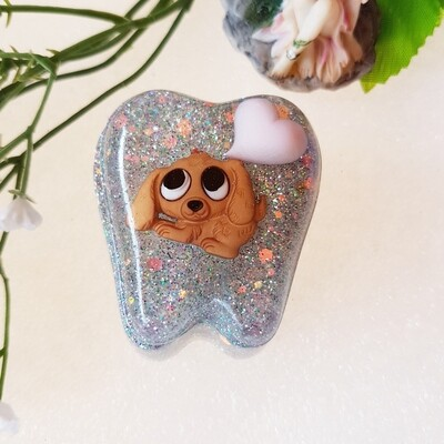Brown Puppy Tooth Fairy Box