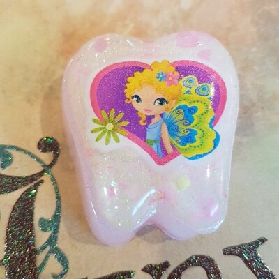 Blue Fairy Heart Tooth Fairy Box