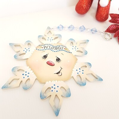 Wishes Snowflake Ornament