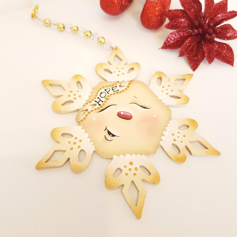 Hope Snowflake Ornament