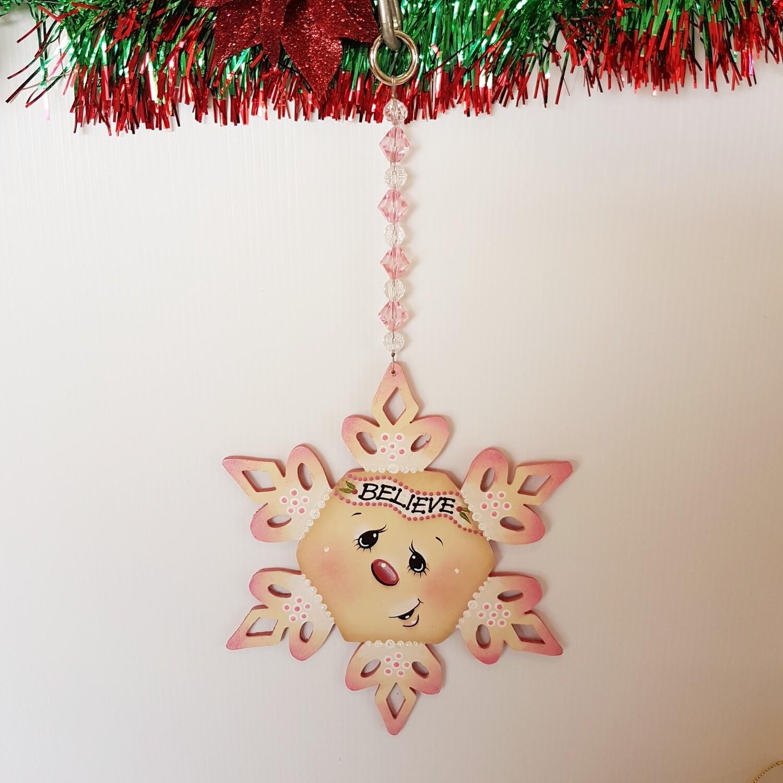 Believe Snowflake Ornament